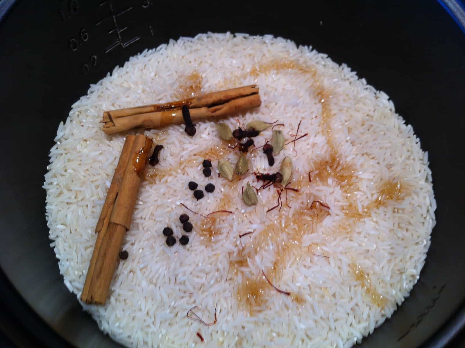 Fragrant rice before cook