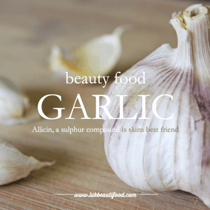 Beauty Benefits of Garlic beauty food garlic luk beautifood skinfood