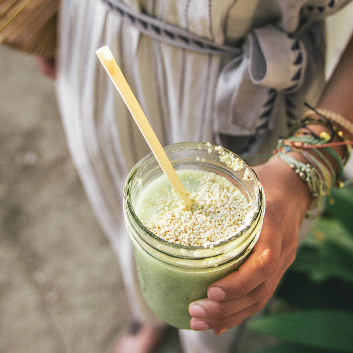 GLOW + GO green smoothie for a natural beauty boost