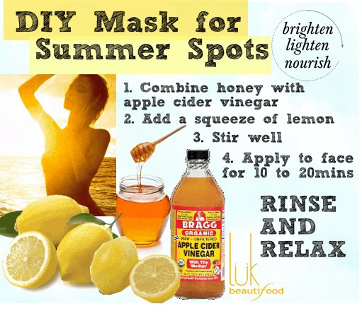 DIY Mask for Summer Spots