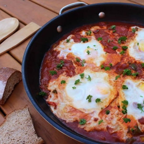 Shakshuka baked eggs recipe luk beautifood clean food
