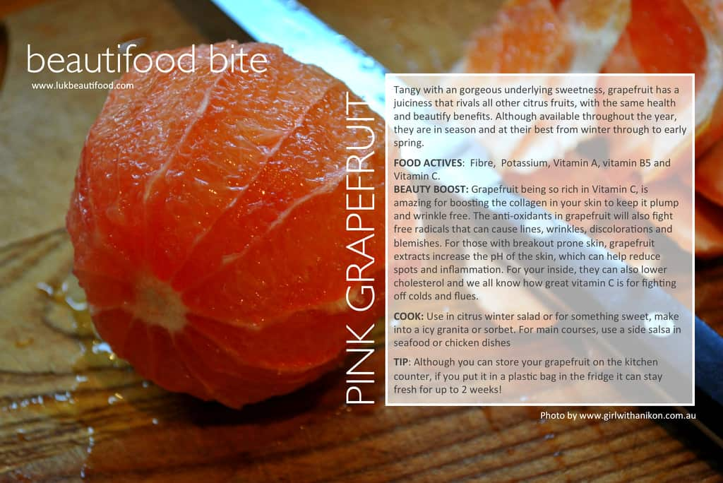 beautifood bite | pink grapefruit