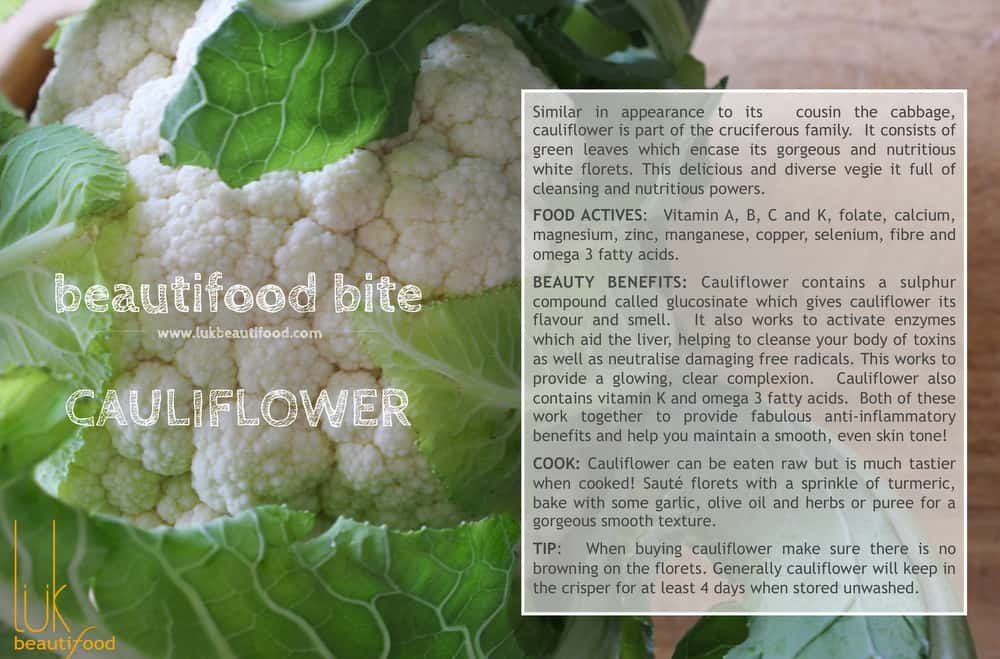 beauty benefits of cauliflower beauty food cauliflower luk beautifood