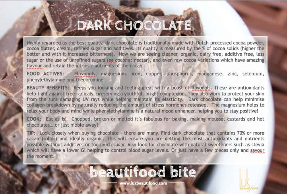 beauty benefits of dark chocolate beauty food dark chocolate luk beautifood