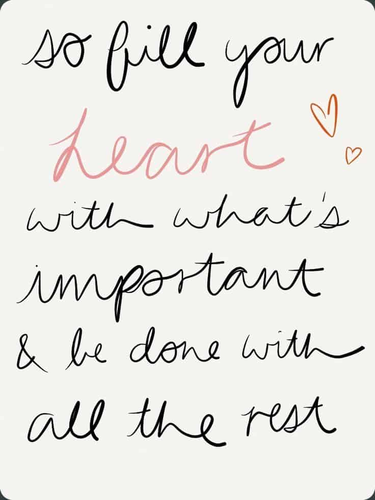 monday morning motivation | fill your heart