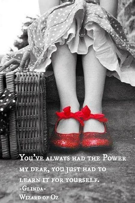 Monday mantra - red shoes help you learn to use your own power