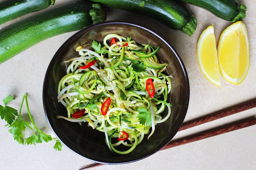 thai style zucchini noodles recipe clean food luk beautifood