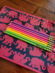 personalized laser engraved back to school pencils