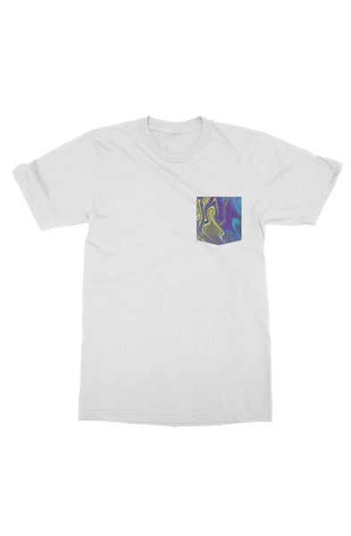 Blue yellow purple pour art gildan mens t shirt