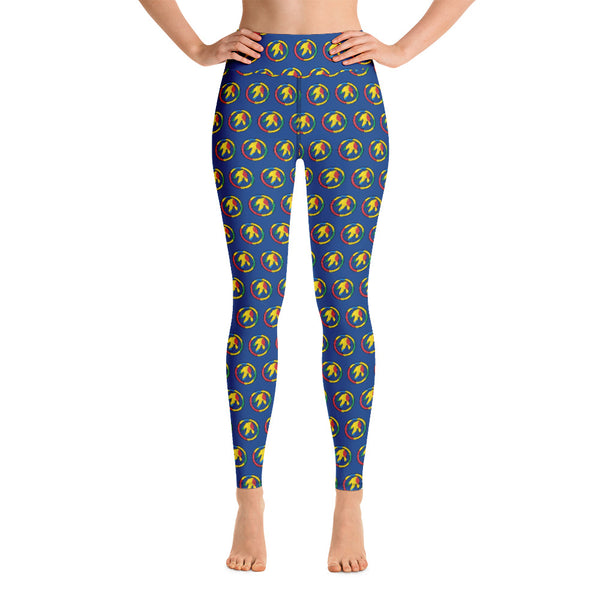 Autism Dino Peace Yoga Leggings