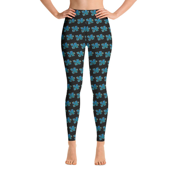 Blue puzzle piece pour Yoga Leggings