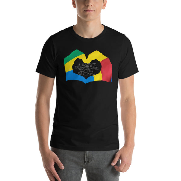 I love someone with Autism Short-Sleeve Unisex T-Shirt