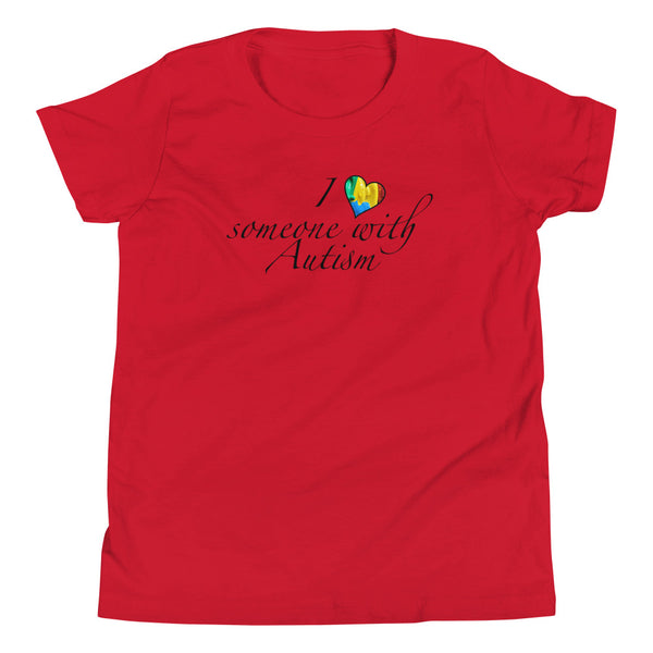 I heart someone with Autism Youth Short Sleeve T-Shirt