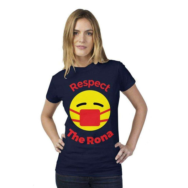 Respect The Rona:Respect The Rona Tultex Women's Fitted T Shirt
