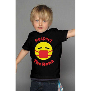 Respect The Rona:Respect The Rona Bella Canvas Kids T Shirt