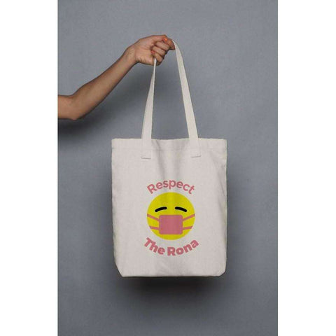 Respect The Rona:Respect The Rona Tote Bag (Pink)