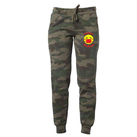 Respect The Rona:Respect The Rona Camo Wash Sweatpants (Red)