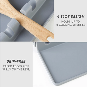 Kitchen Silicone Utensil Rest (Set of 2)