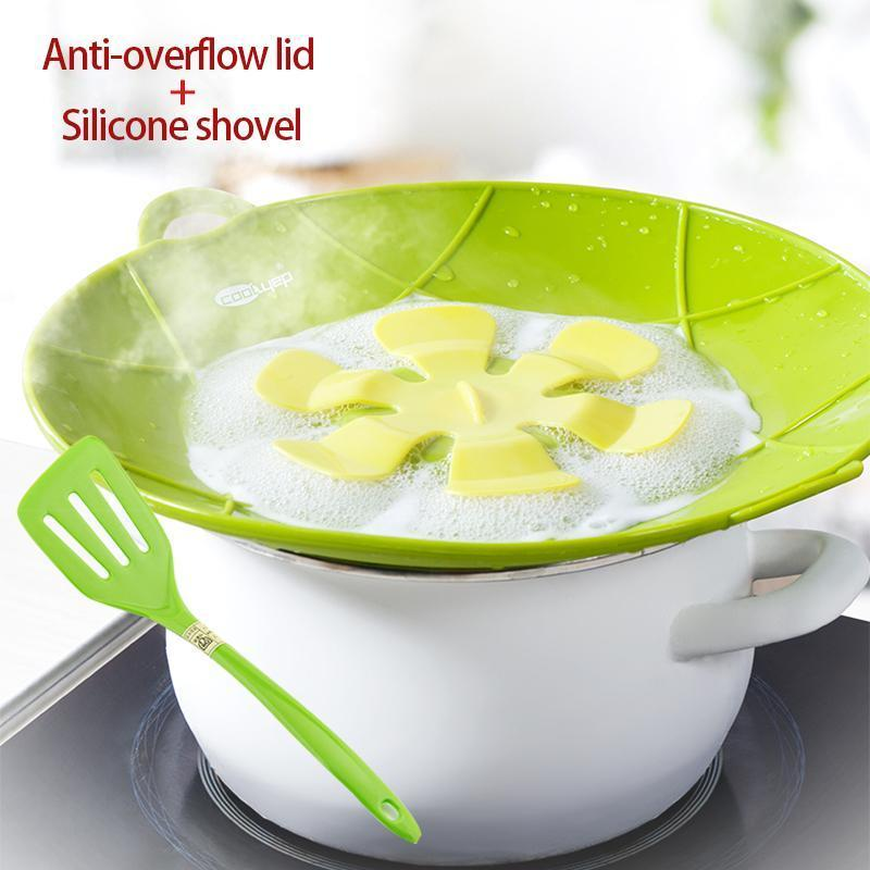 BPA Free silicone overflow-proof lid+silicone shovel + silicone pad