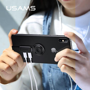 【Hot Sale Now】- Dual Lightning Ring Holder Adapter for iPhone-Fast Charge