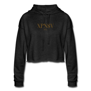 XPNSV Women's Cropped Hoodie - deep heather