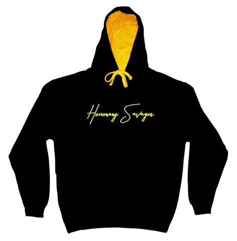 Signature Cursive Hoodie - Black & Yellow Edition