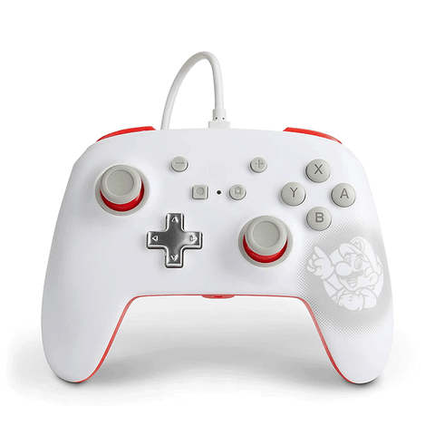 Power A Wired Nintendo Switch Controller Mario White
