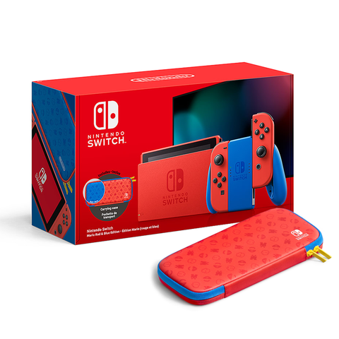 Nintendo Switch Console Mario Red & Blue Edition (Includes Carrying Case) [MDE]