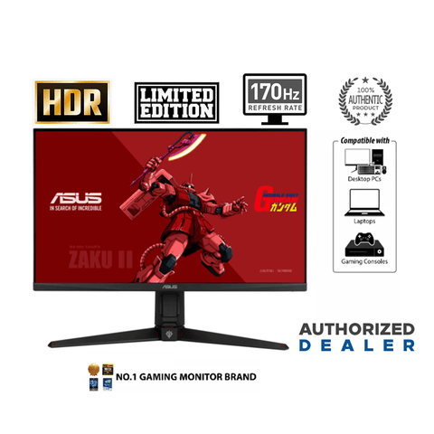 Asus TUF VG27AQGL1A 27-INCH ZAKU II Gundam Edition Gaming Monitor [Limited Edition]