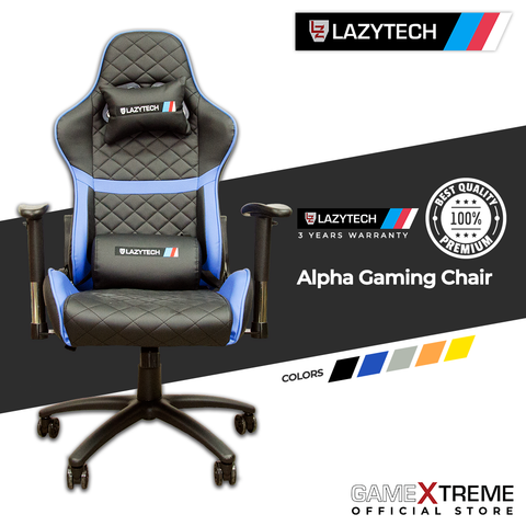 Lazytech Alpha Gaming Chair Blue