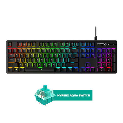 HyperX Alloy Origins Aqua Switch Mechanical Gaming Keyboard FOR PC/XB1/XBS/PS4/PS5/WIIU/MAC (HX-KB6AQX-US)