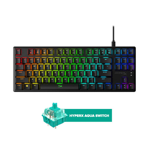 HyperX Alloy Origins Core Tenkeyless Mechanical Gaming Keyboard - Aqua Switch