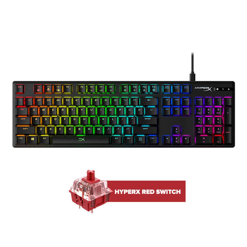 HyperX Alloy Origins Mechanical Gaming Keyboard Red Switch FOR PC/XB1/XBS/PS4/PS5/WIIU/MAC (HX-KB6RDX-US)