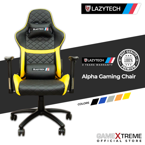 Lazytech Alpha Gaming Chair Yellow