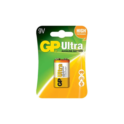 GP Ultra Alkaline 9V 1S (Card) (GP1604AU-2L1)