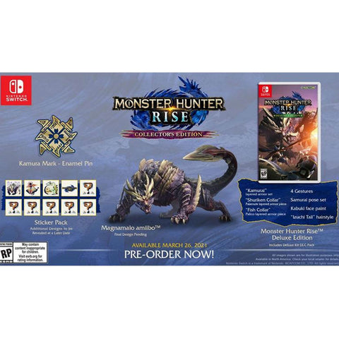 Monster Hunter Rise (Collector's Edition) - Pre-Order Downpayment