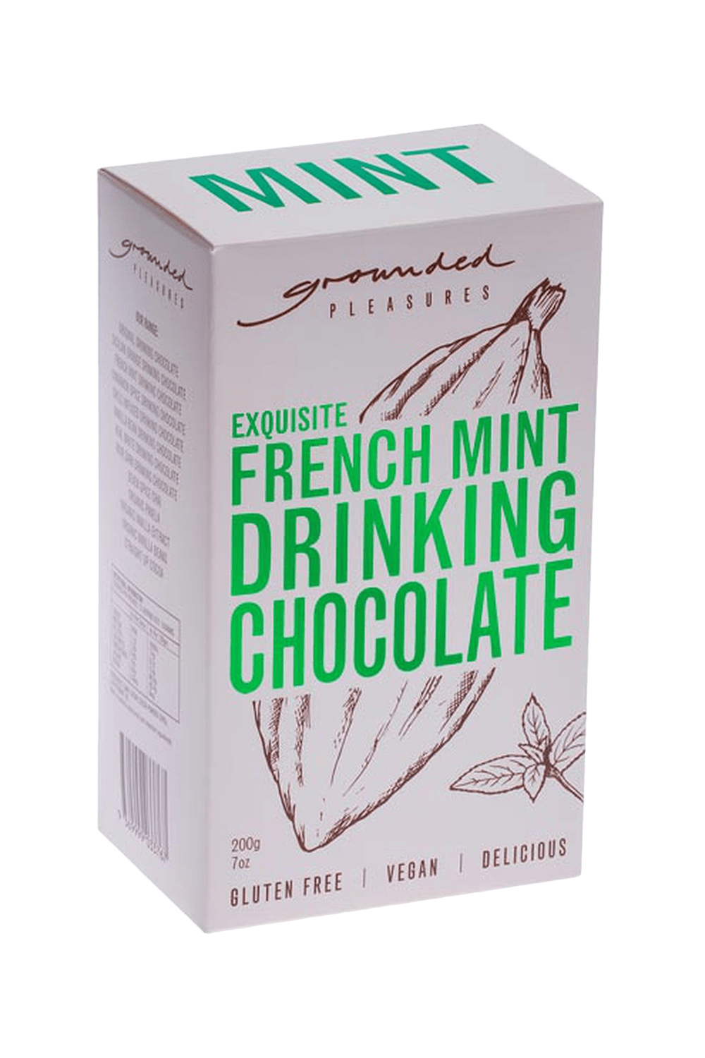 buy cafe products grounded pleasures drinking chocolate french mint drinking chocolate