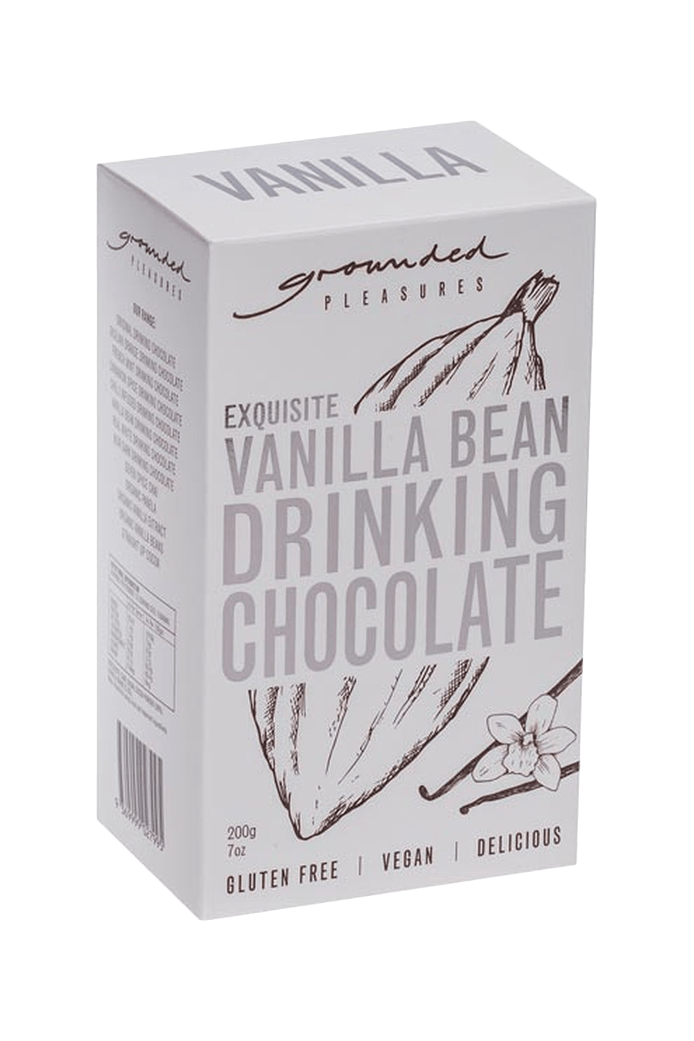 buy cafe products grounded pleasures drinking chocolate vanilla bean drinking chocolate