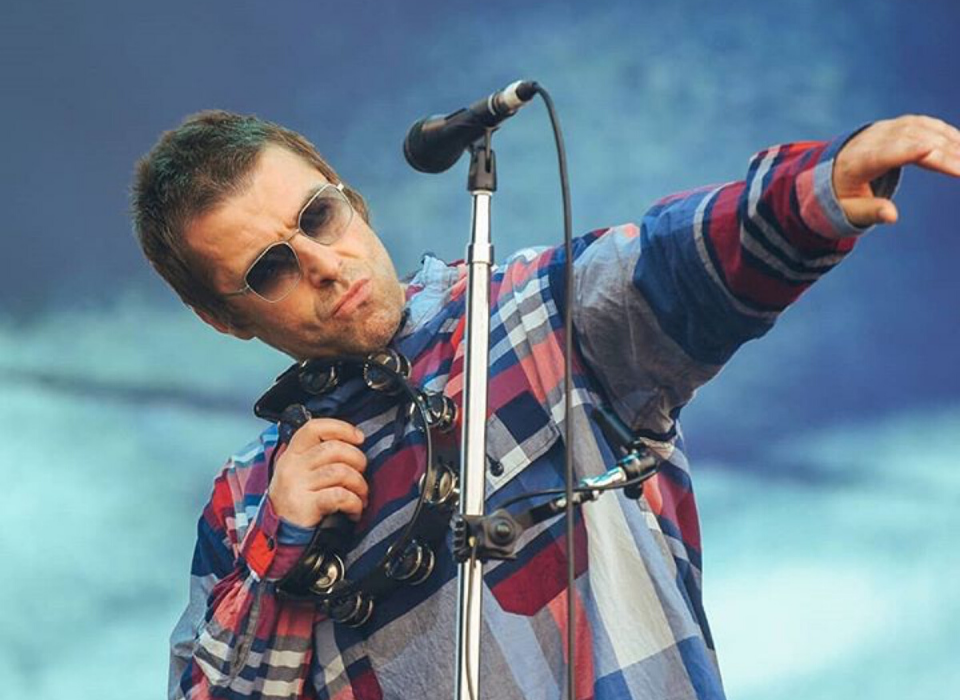 Liam Gallagher wears Finlay London sunglasses
