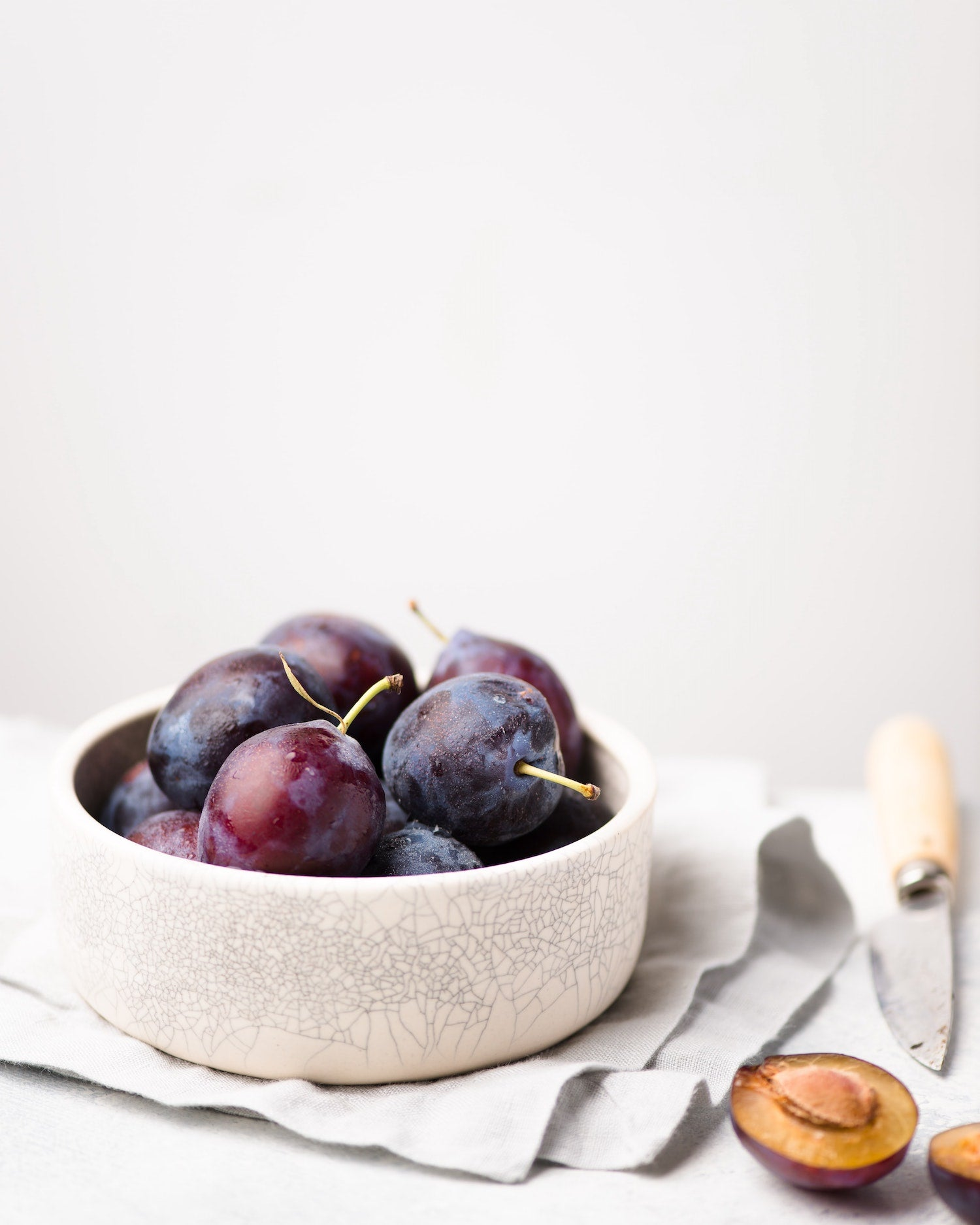 Stewed Plum Breakfast Bowl
