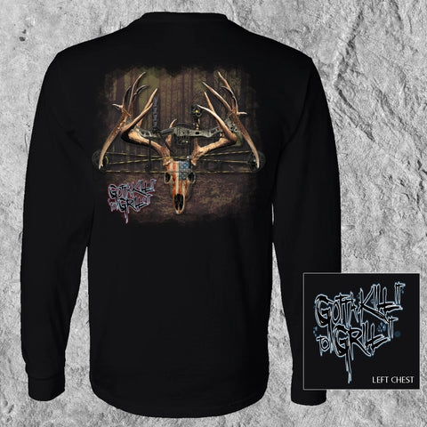 Bow Deer Skull Long Sleeve Tee