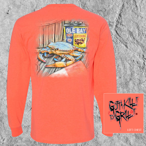 Ole Bay Crab Long Sleeve Tee
