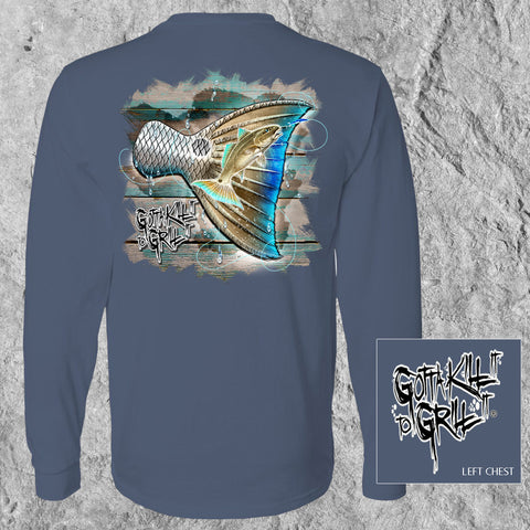 Redfish Tail Long Sleeve Tee