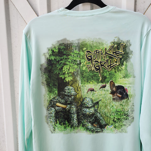 Father Child Turkey Hunt Performance Shirt