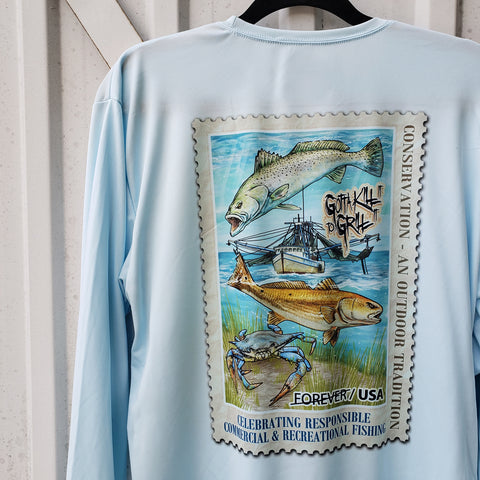 Fishing Conservation Stamp Performance Shirt