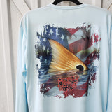 Old Glory Redfish Performance Shirt