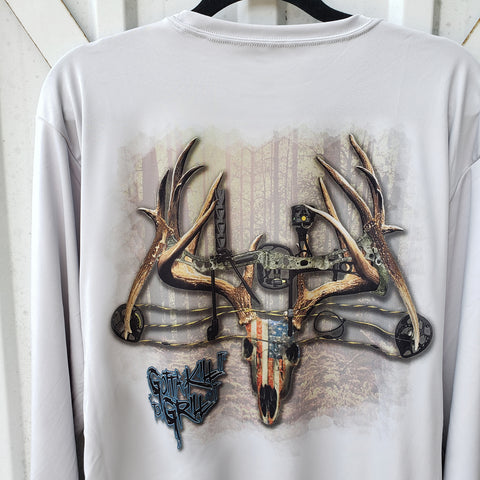 Bow Deer Skull Performance Shirt