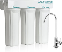 Load image into Gallery viewer, APEC WFS-1000 Super Capacity Premium Quality 3 Stage Under-Sink Water Filter System