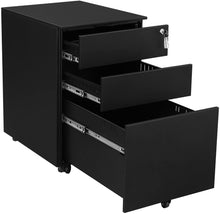 Load image into Gallery viewer, SONGMICS Steel File Cabinet 3 Drawer with Lock Mobile Pedestal Under Desk Fully Assembled Except Casters Black UOFC60BK