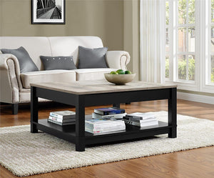 Ameriwood Home Carver Coffee Table, Black (Black Coffee Table)